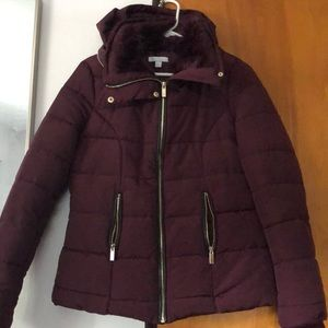 Puffer short jacket with matching hat never worn